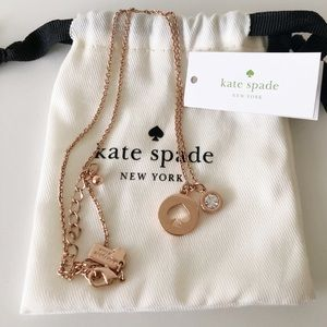 Kate Spade Spot the Spade Rose Gold Necklace
